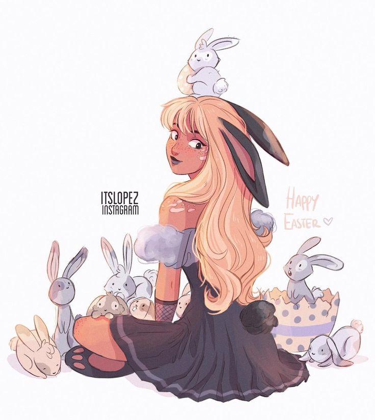 Bunny mom with baby bunnies #happyeaster