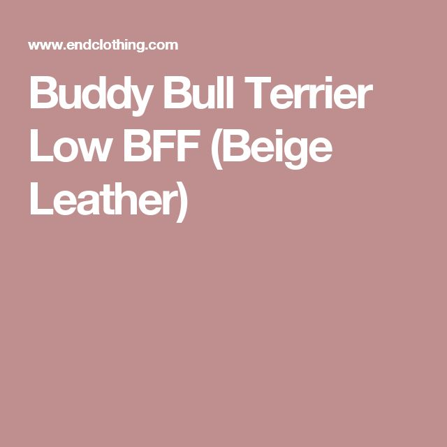 Buddy Bull Terrier Low BFF (Beige Leather)