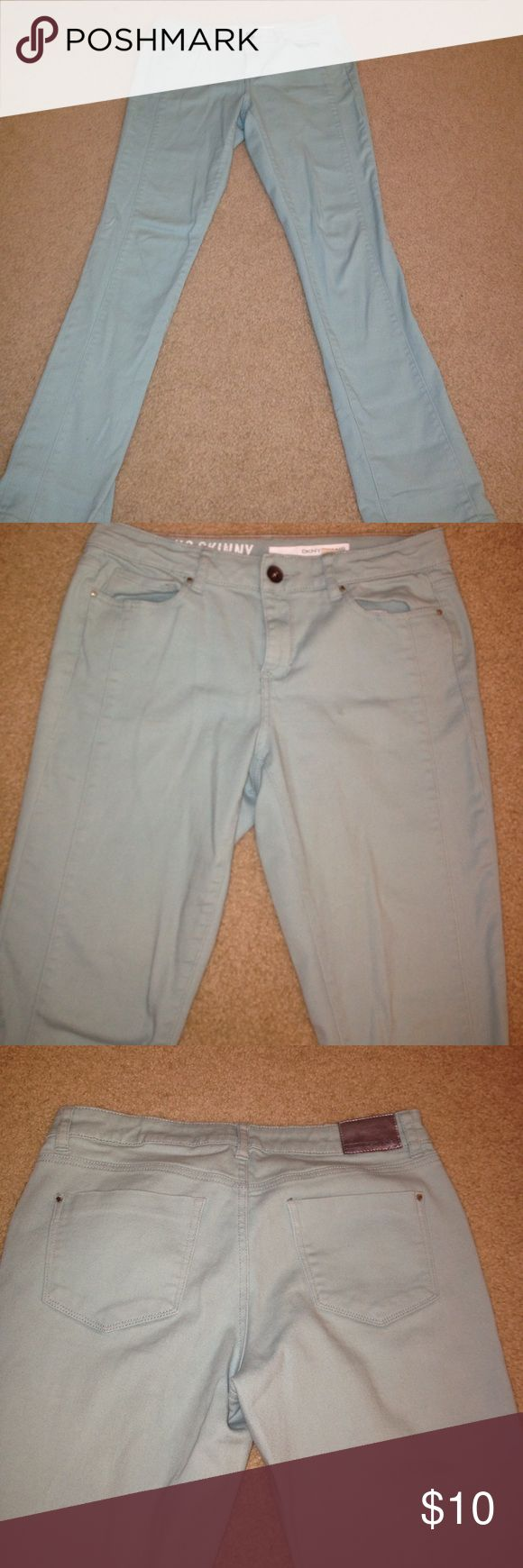 Mint green jeans In good condition, mint green, comfortable DKNY Jeans Straight Leg