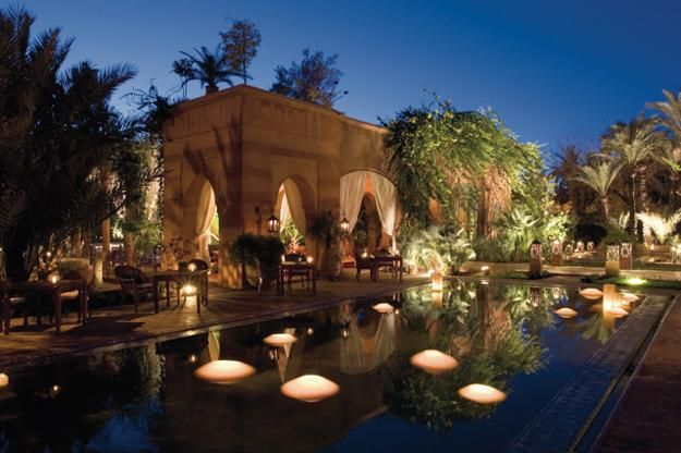 Idyllic outdoor swimming pools, mesmerizing candles or softly glowing lanterns create gorgeous, romantic, and mesmerizing outdoors at night