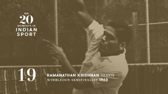 19: Ramanathan Krishnan reaches Wimbledon last four -  Till date, Ramanathan Krishnan remains the only Indian to get to the semi-finals in the singles event of the tournament. Source: Bill Johnson/The Denver Post/Getty Images   www.piclectica.com #piclectica