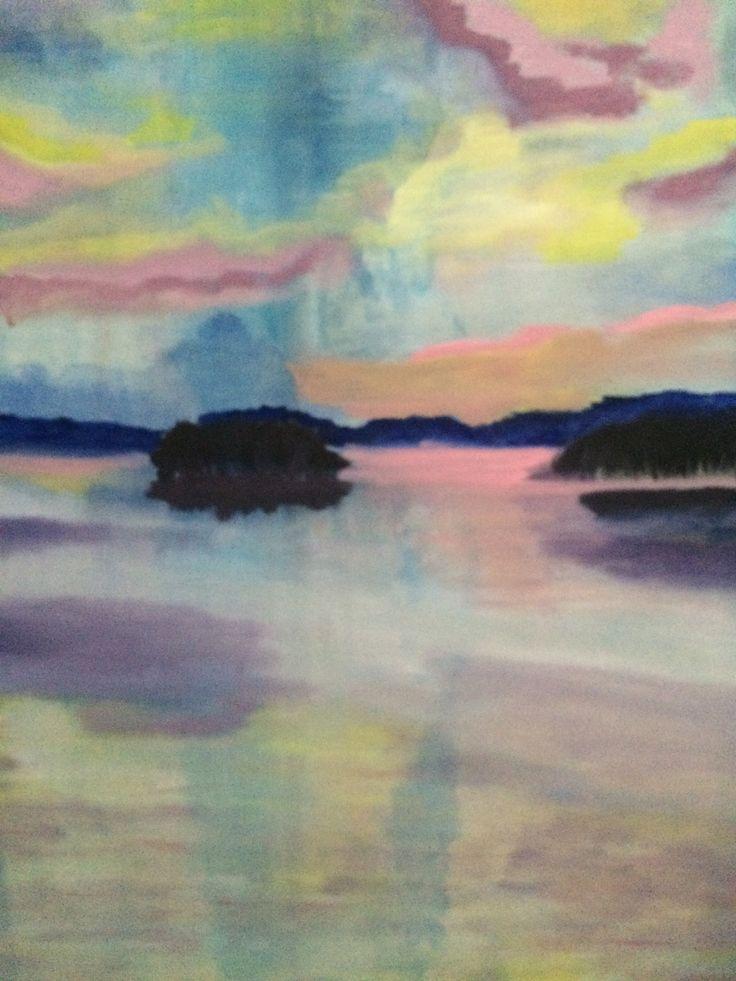 Sunset, Oil on canvas, 60x50