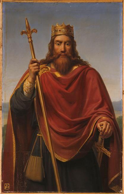 François-Louis Dejuinne | Clovis, roi des Francs (465-511) | Images d'Art