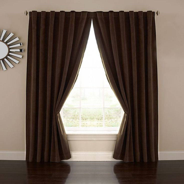 eclipse Absolute Zero Velvet Thermaback Blackout Home Theater Curtain, Brown