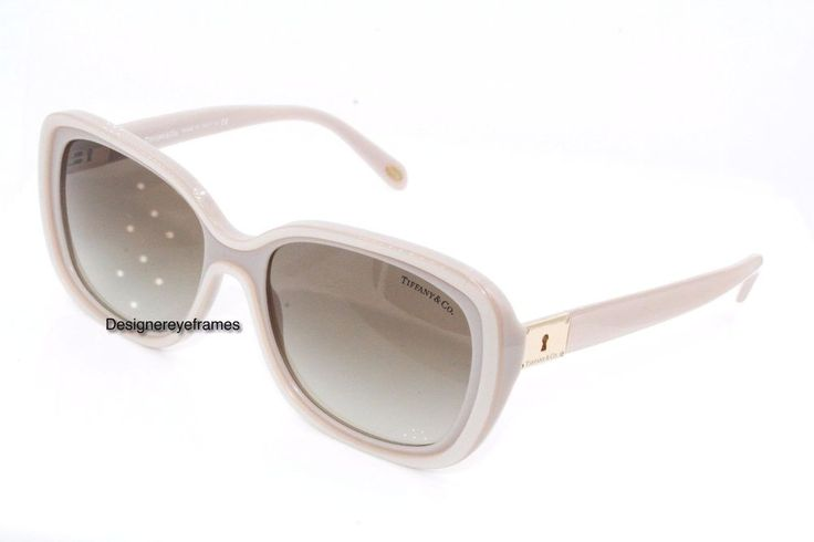 TIFFANY & CO. TF 4091 B 8188/3M Pink/White Rectangular Key Sunglasses NWC AUTH #TIFFANYCO #Rectangular
