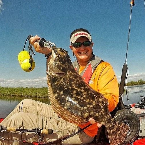 Before the day is over need to have #flounderfriday !! Ready for this #wind to slow down to get those @buggsfishing #lures back in the water! #kayak #fishing #louisiana #coastal #marsh in the #hobie #outback
