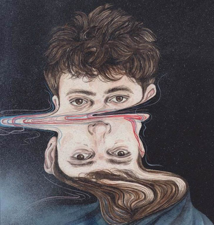 "Illusion: Henrietta Harris' painted portraits look like she dipped the whole work in water. The ""liquid"" effect is quite interesting to see in this series. Artwork © Henrietta Harris Link via Boooooom. http://illusion.scene360.com/art/30344/our-reality-is-distorted/"