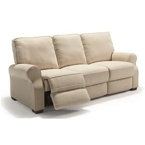 Best Home Furnishings Hattie Traditional Power Reclining Sofa with High Legs - Darvin Furniture - Reclining Sofa