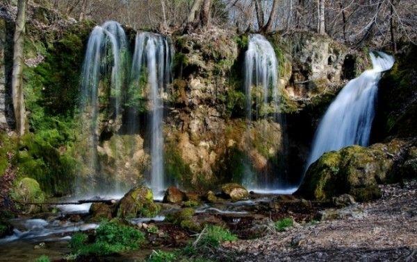 Hajske vodopady. Prístupný, košický kraj - Slovenský kras, Zádiel, Turniansky hrad