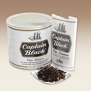 Captain Black Regular - Captain Black has been the biggest selling line of tobaccos in the United States for almost fifty years, and this one is the original. Captain Black Regular is a mixture of Virginia, Burley and Black Cavendish with a distinctively warm, pleasantly sweet flavor and aroma. Try this great American classic!
