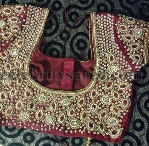 Purple Stone Work Chic Blouses | Saree Blouse Patterns