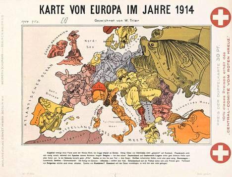 Vuoden 1914 pilapiirros muistuttaa, miten Euroopan asioilla oli tapana olla.