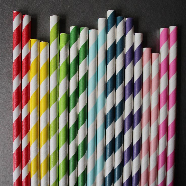 striped paper straws by pearl and earl | notonthehighstreet.com