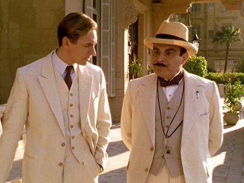 2004.  Death on the Nile.  JJ Feild as Simon Doyle, David Suchet as Poirot.  (Agatha Christie's Poirot TV Series.)