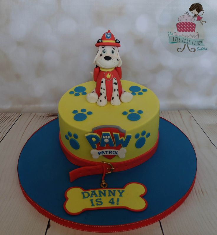 Marshall from Paw Patrol birthday cake  www.littlecakefairydublin.com www.facebook.com/littlecakefairydublin