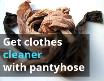 Remove Lint and Pet Hair from Clothes with Pantyhose!