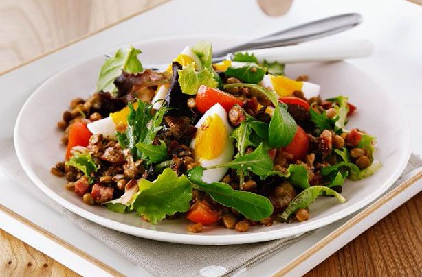 Lentils are a fantastic pulse. They offer a great source of fibre and B vitamins and are renowned for their health properties. This hearty recipe offers a great alternative to a traditional cold salad.