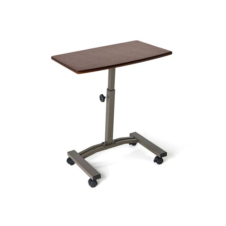 Seville Adjustable Height Mobile Laptop Cart Desk   Overstock™ Shopping    The Best Prices On