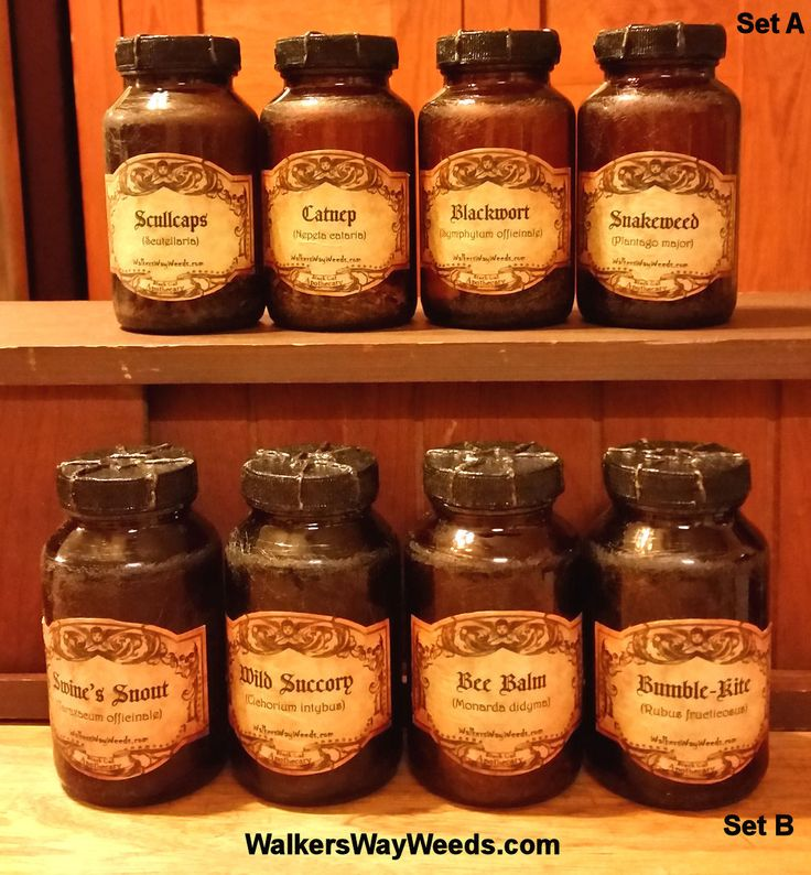 Aged Amber Apothecary Jar Sets-Half-Pints-with Medieval Labels-created from upcycled materials-OOAK by WalkersWayWeeds on Etsy