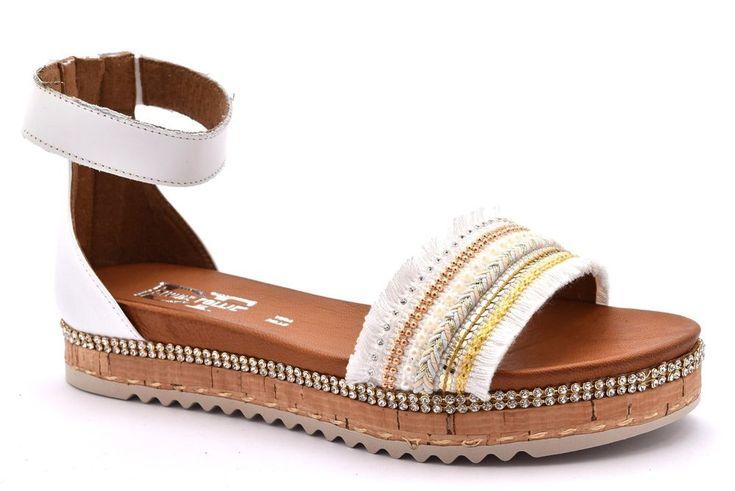 DIVINE FOLLIE 85927 BIANCO Oro Argento Perle Sandalo Platform Donna Cinturino