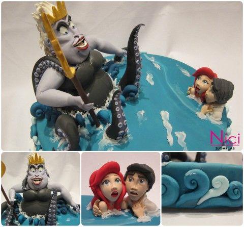 La sirenetta - Little Mermaid Cake Design  http://www.nicisugarlab.it/
