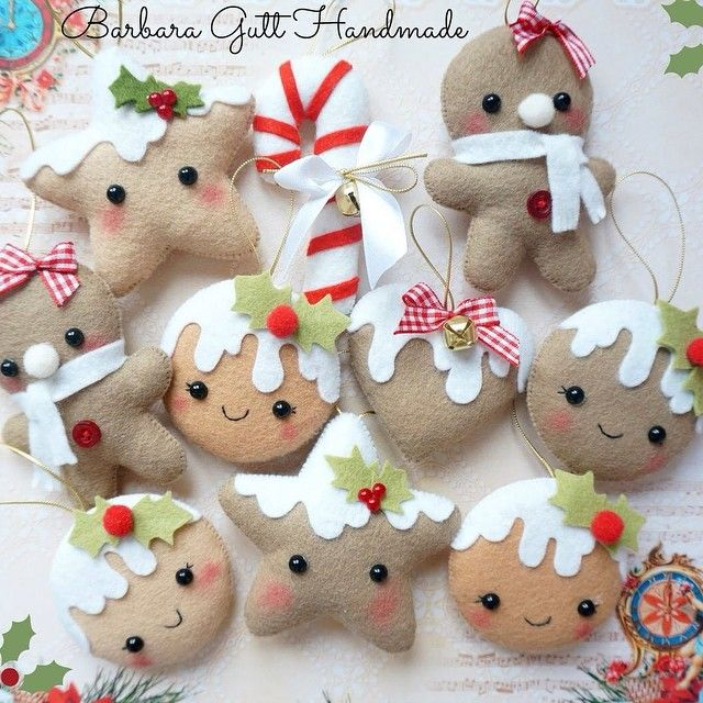 Di Barbara Gutt Handmade !!! #felt #feltro#pannolenci #handmade #fattoamano #artesanato #artigianato #noel #natal #christmas