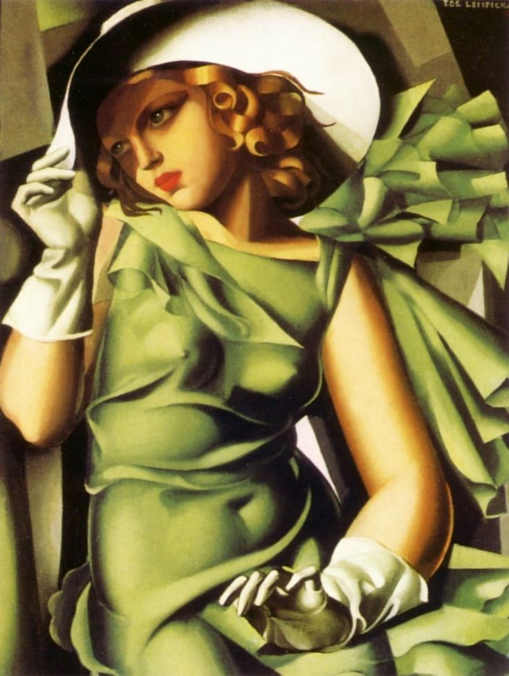 Woman with a Green Glove - Tamara de Lempicka -