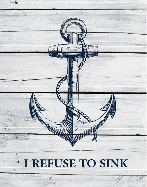 This makes absolutely no sense....an anchor, by very definition........SINKS. Dumbasses