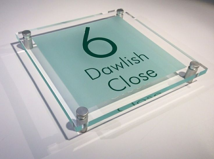 House door numbers What's your #number … #number 6 ? Here's a Gorgeous #frosted green #acrylic #house #sign … Take a peek here http://www.de-signage.com/modern-house-signs-xl-square.php