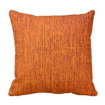Orange Fabric Look Background Throw Pillow  Orange throw pillows make any room look vibrant, bold and fun.  Orange is the color of energy, intelligence and brightness.  Therefore consider using orange accent pillows to serve as bold pops of color around any room of your home.   Great for rooms like living rooms or bedrooms that need a bold pop of color to bring energy and life into your home.  Also get all kinds of home decoration ideas and inspiration by using orange decorative throw…