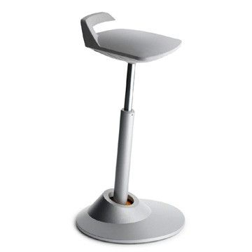 The Muvman Sit Stand Chair is an active seating solution based around movement. The Muvman allows for a range of sitting heights with easy to use height adjustment buttons for use in retail, laboratories, medical practices and production areas #seated #muvman #stool #chair seated.com.au
