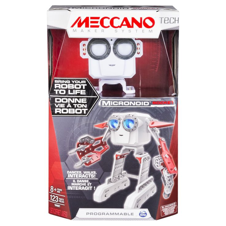 Meccano Erector - Micronoid - Red Socket, Programmable Robot Building Kit