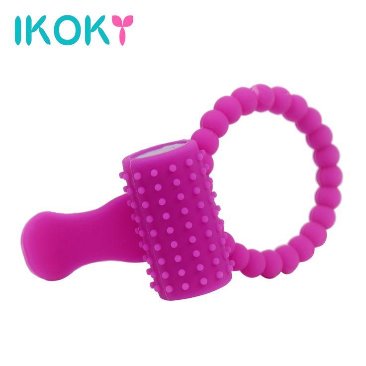 IKOKY Penis Ringen Vertraging Ringen Voor Mannelijke Sex Producten Voor Mannen Cock Ringen Siliconen Tong Ring Trillingen Clitoris stimulator