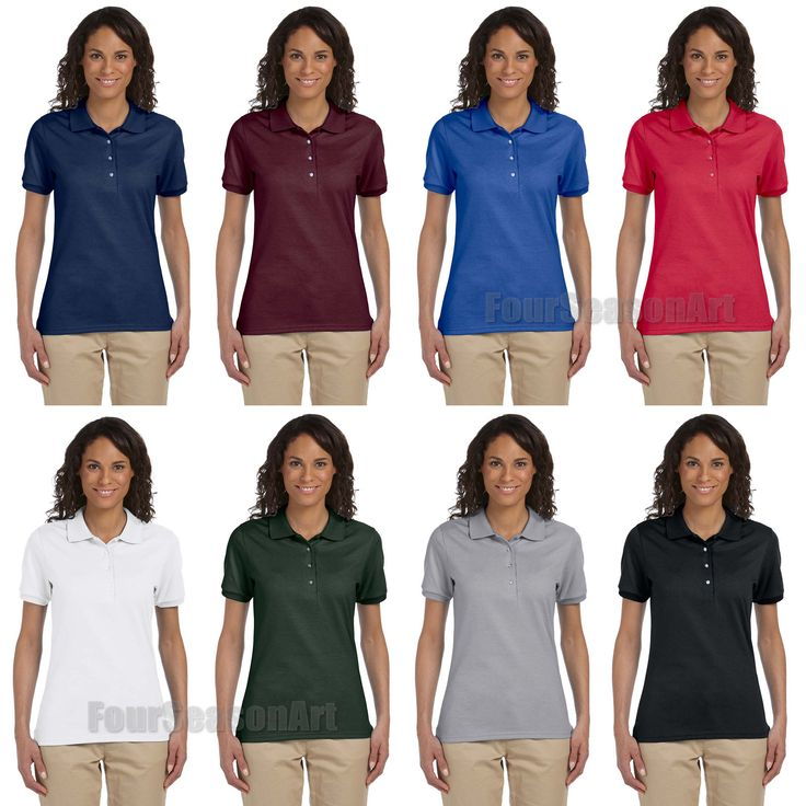Jerzees Ladies Spotshield 50/50 Sport Polo Shirt Womens S M L Xl 2Xl 437Wr-437W