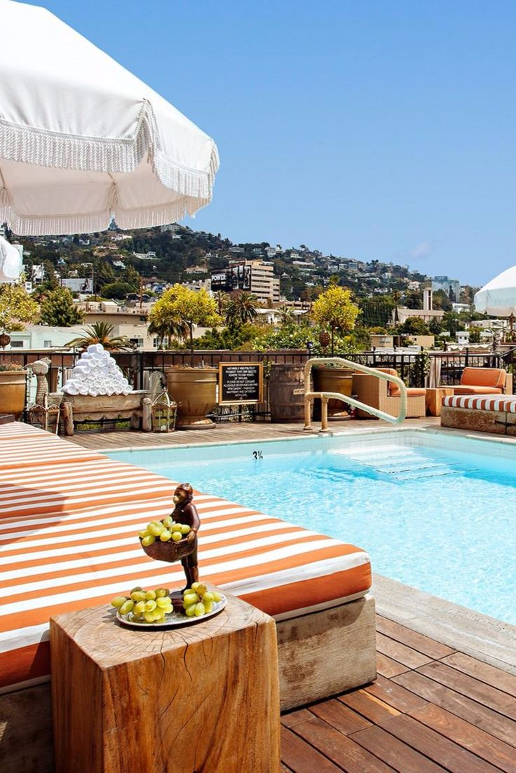 The rooftop is a real draw, thanks to its heated saltwater pool. Petit Ermitage (West Hollywood, California) - Jetsetter