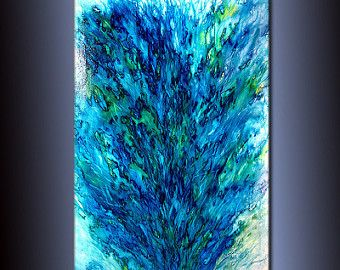 Original Abstract paintingContemporary Modern by newwaveartgallery
