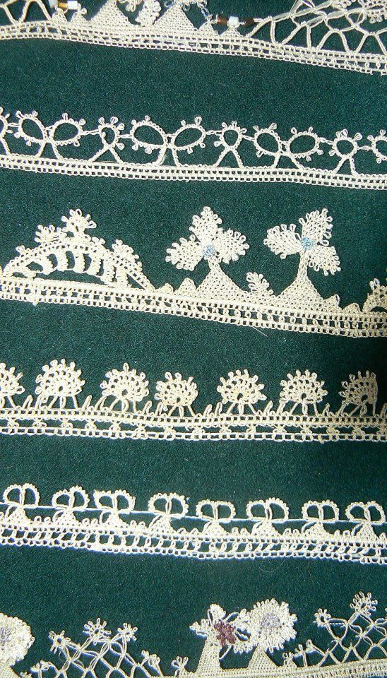 Needle sewn lace, Bulgarian