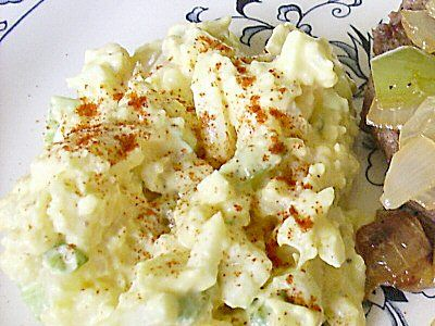 mock potatoe salad...you can't tell the difference.  only thing, make sure you chill well and eat in same day.  Can taste the cauliflower taste the next day.  but still good to me.