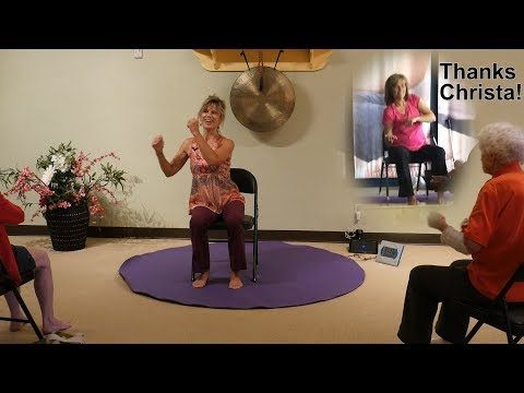 sway it's good for your health  chair yoga dance with