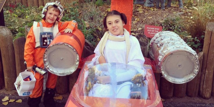 Peyton McCubbin's homemade Halloween costume is undeniably impressive, but then again, you could say that about her costume every year. Her parents have a tradition of constructing imaginative, elaborate ensembles -- some of which have a supporting role for her little brother, Cade -- and 2013's creation fits right in.