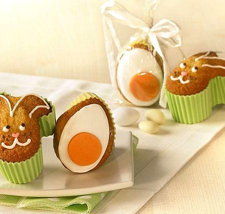Wielkanoc, dekoracje, foremki, ciastka wypieki wielkanocne