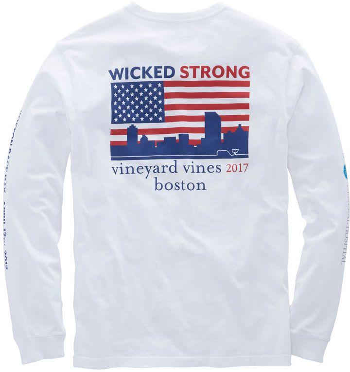 Vineyard Vines Long-Sleeve 2017 Boston Marathon T-Shirt