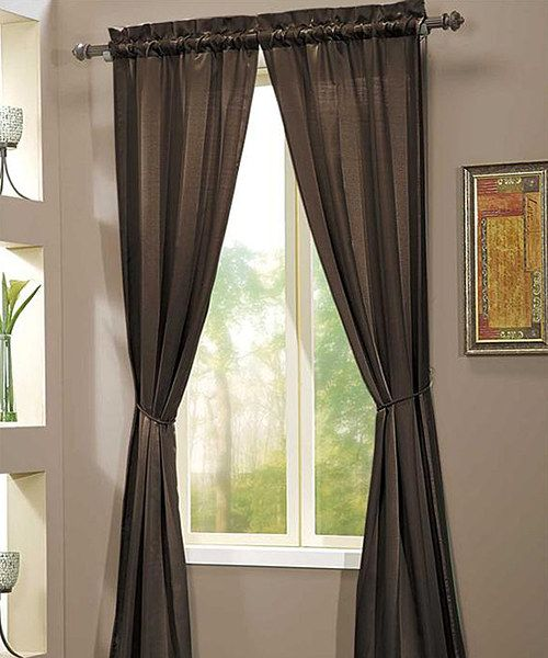 Victoria Classics Chocolate Berkshire Curtain Panel Set Of Two Curtains L