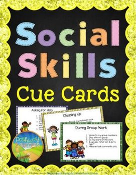 Social Skills Cue Cards - Social Skills Reminder CardsThese social skills cue cards include 30 different prompts for students who need extra support and reminders during social situations. They are great for children with autism, ADHD, Oppositional Defiant Disorder, and other behavioral or emotional challenges.