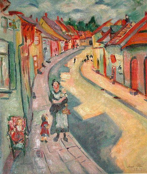 Irma Stern Village street 1914