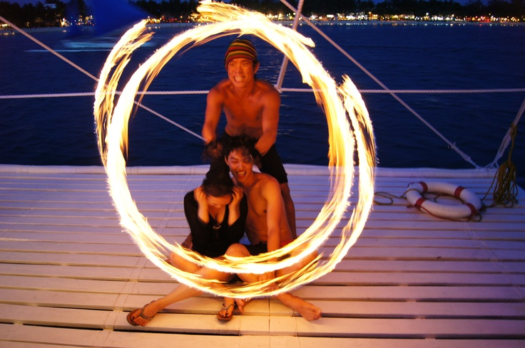 This is the ultimate Boracay Tour with the best sunset view for that postcard photograph to take home. A fantastic trip that you will never forget! Drink all you can beer and local rum while listening to great music and meeting new friends.  Click on the link to book online.  http://www.myboracayguide.com/boracay-activities/Sunset-Party-Cruise-Booty-222.html
