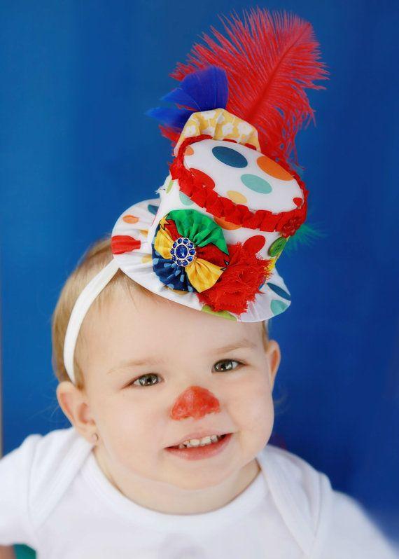 Circus Mini Top Hat - Clown Costume - Circus Birthday - Halloween Clown - Photo…