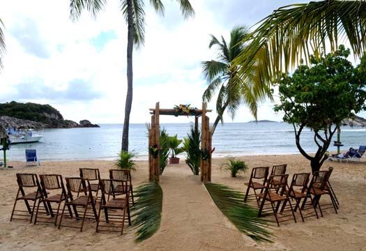 What a gorgeous backdrop this would be, in St. Thomas.   Destination Weddings by Cruise Planners