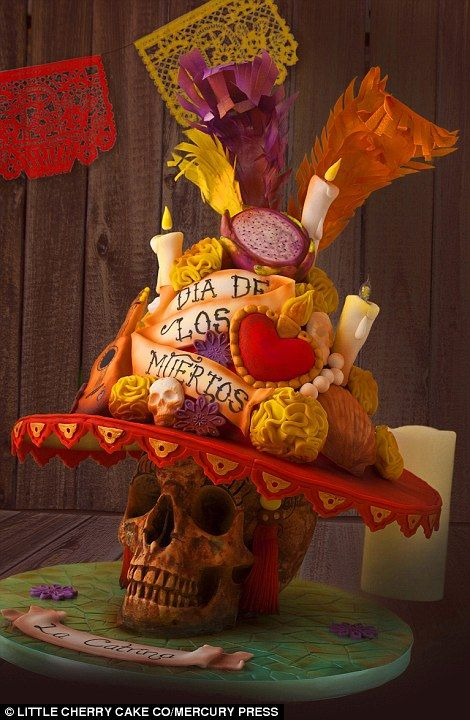 Worldwide adventure: The handmade creations were dreamed up by 40 of the very best cake makers from all over the world, drawing inspiration from a wide range of cultures, traditions and symbols - such as Mexico's Day of the Dead