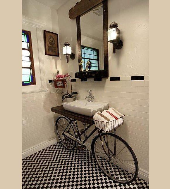 reciclar bicicletas: Bike Sink, Decor, Bathroom Sink, Interior, Bicycles, Sinks, Bathroom Ideas, House, Design